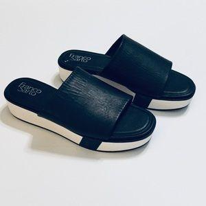 Franco Sarto Orelia Leather Slides Sandals